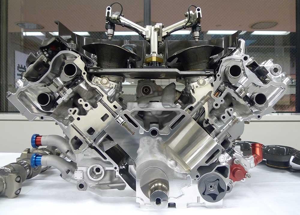 Disassembled F1 Engine